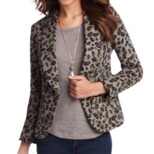 Ann Taylor leopard print blazer jacket